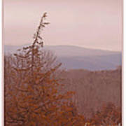 The Misty Mountains On A Misty Day Poster