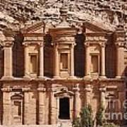 The Monastery At Petra In Jordan Poster by Robert Preston