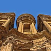 The Monastery In Petra Poster