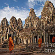 The Monks Of Bayon Poster by Pete Reynolds