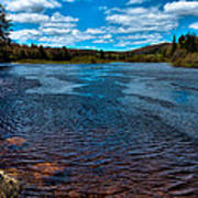 The Moose River At The Green Bridge Poster