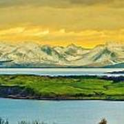 The Mountains Of Arran From Douglas Park Largs Poster