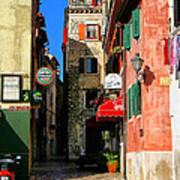 The Narrow Streets Of Rovinj Croatia Poster