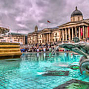 The National Gallery In Trafalgar Square Poster