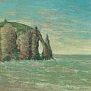 The Needle At Etretat Poster by Claude Emile Schuffenecker