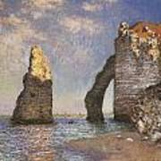 The Needle Etretat Poster by Claude Monet