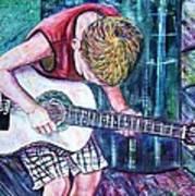 The New Guitar Poster by Linda Vaughon