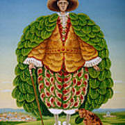The New Vestments Ivor Cutler As Character In Edward Lear Poem, 1994 Oils And Tempera On Panel Poster