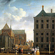 The Nieuwe Kerk And The Rear Of The Town Hall In Amsterdam  Poster by Isaak Ouwater