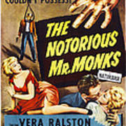 The Notorious Mr. Monks, Us Poster Art Poster