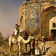 The Old Blue Tiled Mosque - India Poster