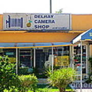 The Old Delray Camera Shop And Studio. Florida. Poster
