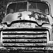 The Old Gmc Truck Poster