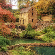 The Old Mill In Autumn - Arkansas - North Little Rock Poster