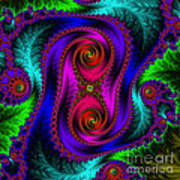 The Old Stuffed Chair - Fractal Poster