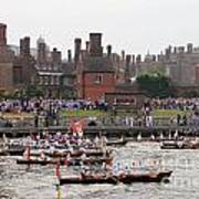The Olympic Torch Leaves Hampton Court On The Final Leg Of Its J Poster