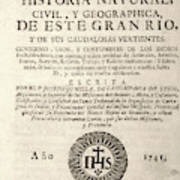 'the Orinoco Illustrated' (1741) Poster