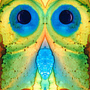 The Owl - Abstract Bird Art By Sharon Cummings Poster