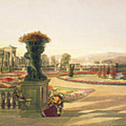 The Parterre  Trentham Hall Gardens Poster