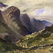 The Pass Of Glencoe, 1852 Poster by William Bennett