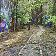 The Path Of Graffiti Poster