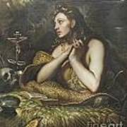 The Penitent Magdalene By Domenico Tintoretto Poster