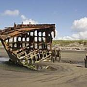 The Peter Iredale Shipwreck 2 Color Poster