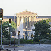 The Philadelphia Art Museum From The Parkway Poster