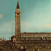 The Piazza San Marco Venice Poster