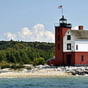 Round Island Lighthouse Mackinac The Picnic Spot Poster