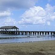 The Pier At Hanalei Poster