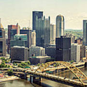 The Pittsburgh Skyline Poster