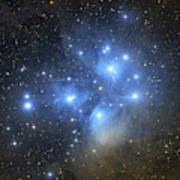 The Pleiades Open Star Cluster Poster