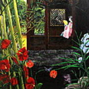 The Pond Garden Poster by D L Gerring
