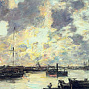 The Port Poster by Eugene Louis Boudin