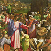 The Raising Of Lazarus, C.1517-19 Oil On Canvas Transferred From Wood Poster