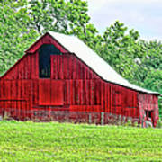 The Red Barn - Featured In Old Buildings And Ruins Group Poster