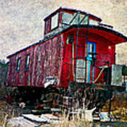The Red Caboose Poster by Dianne  Lacourciere