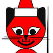 The Red Cat wishes you a Merry Christmas Poster