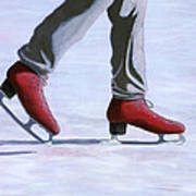 The Red Ice Skates Poster