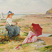 The Red Parasol Poster by Alfred Glendening Jr