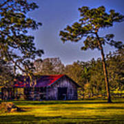 The Red Roof Barn Poster by Marvin Spates
