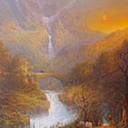The Road To Rivendell The Lord Of The Rings Tolkien Inspired Art  Poster by Joe  Gilronan