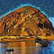 The Rock At Morro Bay Abstract Poster