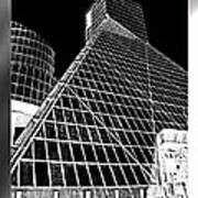 The Rock Hall Cleveland Poster by Kenneth Krolikowski