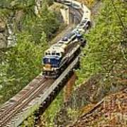 The Rocky Mountaineer Above The Cheakamus River Poster