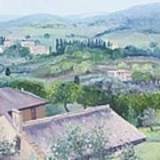 The Rolling Hills Of Tuscany Poster