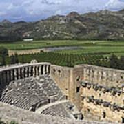 The Roman Theatre In Aspendos Antalya Turkey  Poster