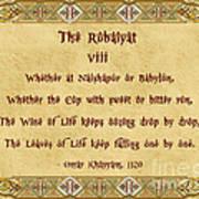 The Rubaiyat Viii Omar Khayyam  Poster by Olga Hamilton