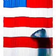 American Flag Salute Poster